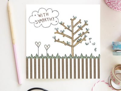 With Sympathy Tree Card Flossy Teacake