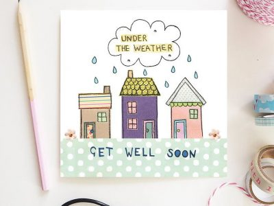 Flossy Teacake Under The Weather Card