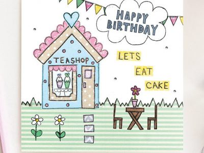 Flossy Let's Eat Cake Birthday Card