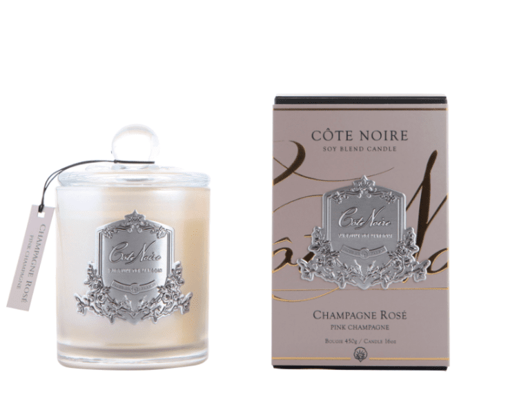 Cote Noire Champagne Rose Candle